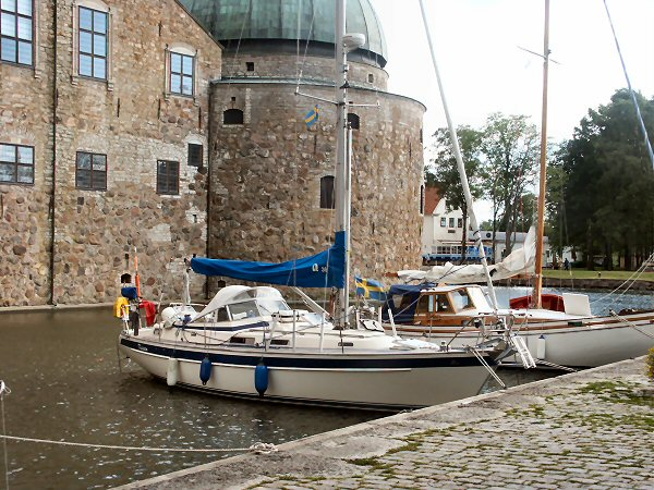 The Marina in the Moat at Vadstena